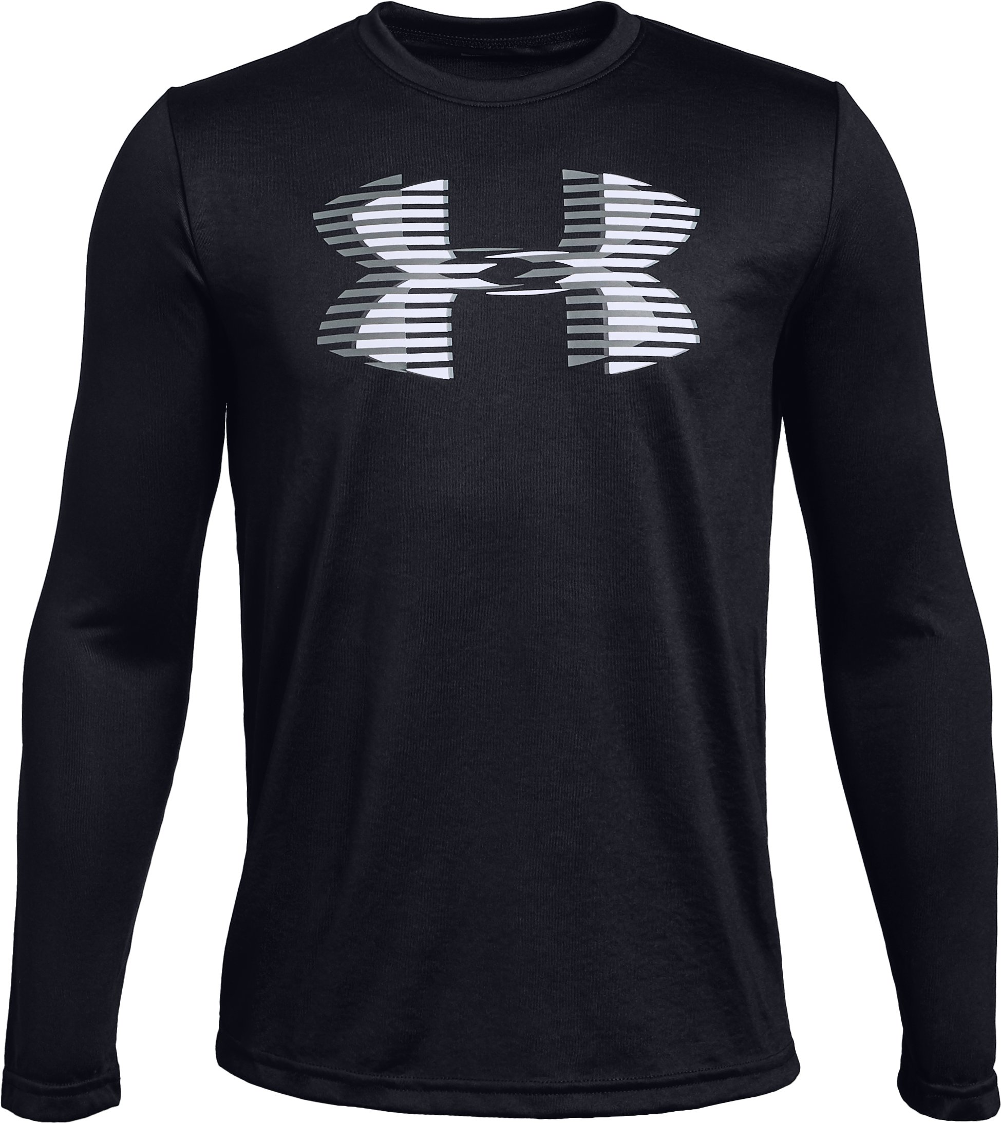 Boys' UA Tech™ Big Logo Long Sleeve, Black