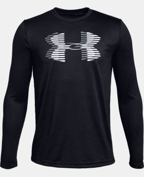 Boys' UA Tech™ Big Logo Long Sleeve  4  Colors $30