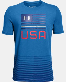 New Arrival Boys' UA Americana USA T-Shirt  1  Color $25