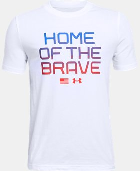 New to Outlet Boys' UA Home Of The Brave T-Shirt  1  Color Available $15.99