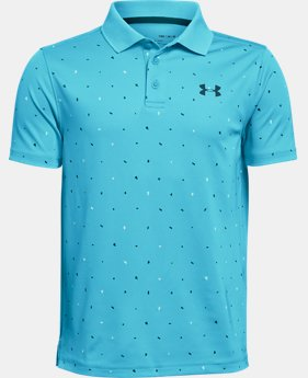 New Arrival  Boys' UA Performance Polo Novelty LIMITED TIME: FREE SHIPPING 3  Colors Available $40