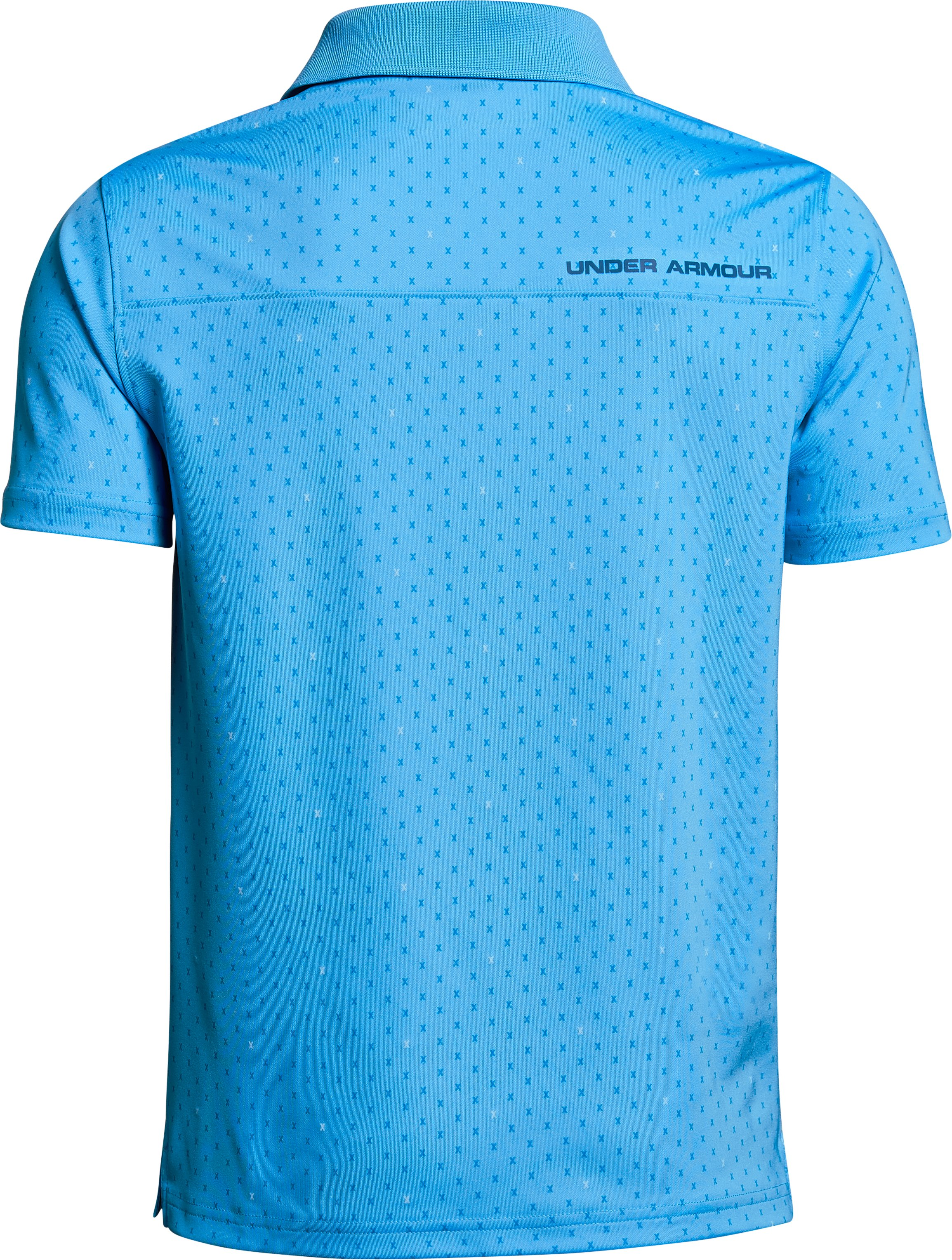 Boys' UA Performance Polo Novelty, CANOE BLUE,