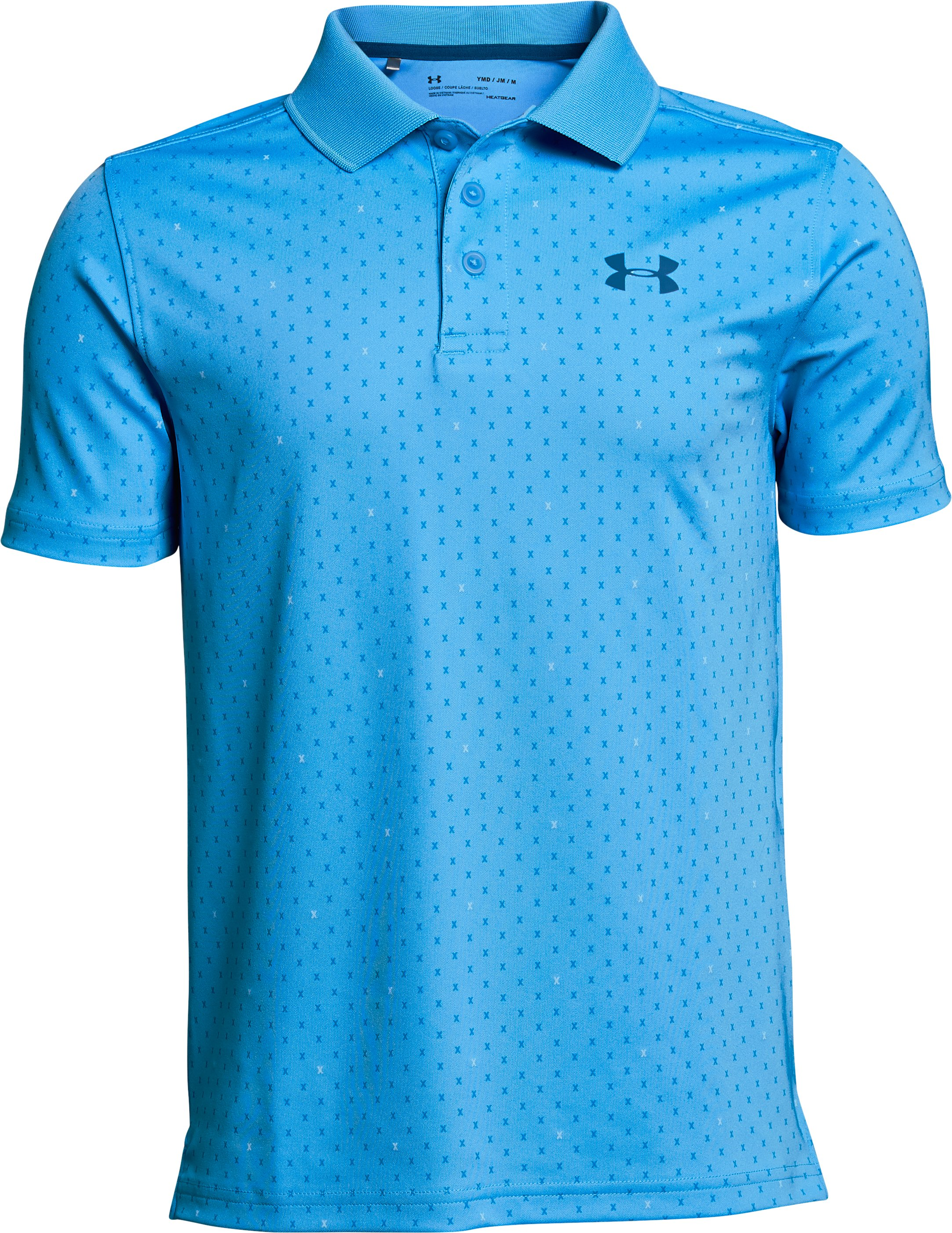 Boys' UA Performance Polo Novelty, CANOE BLUE