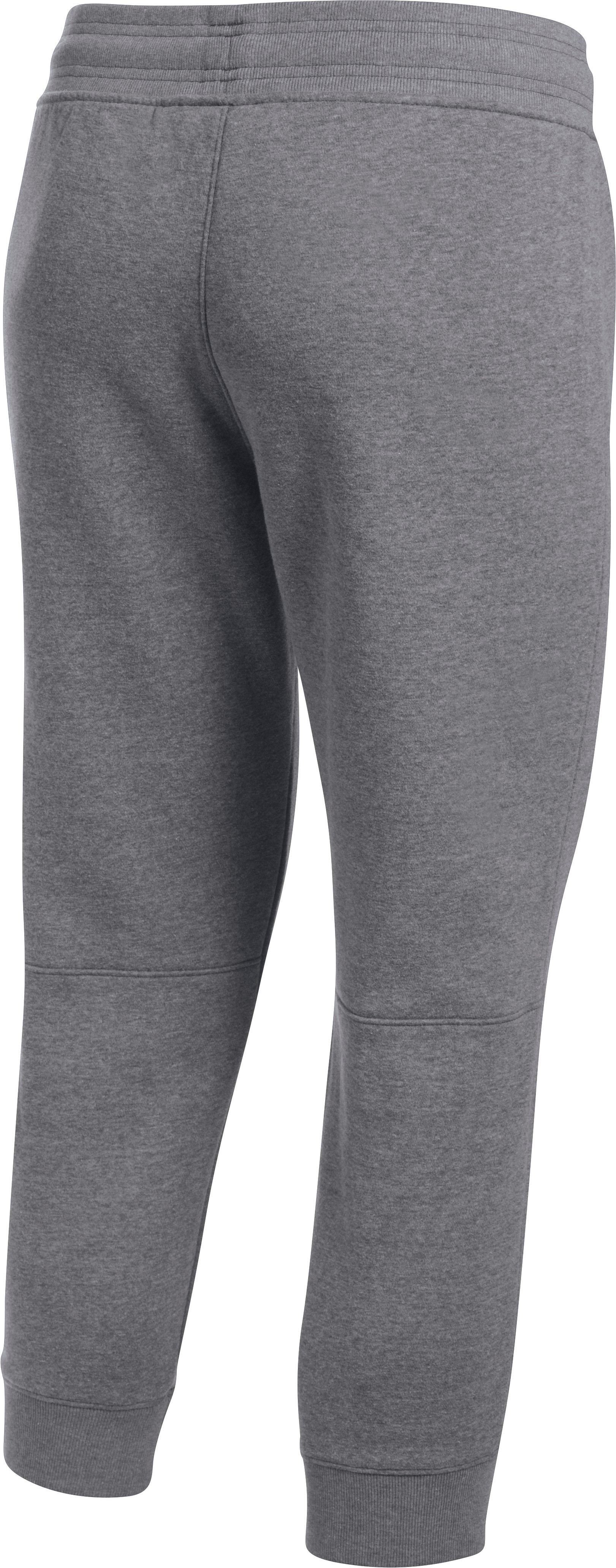 Women's UA Favorite Fleece Graphic Capris, Carbon Heather,
