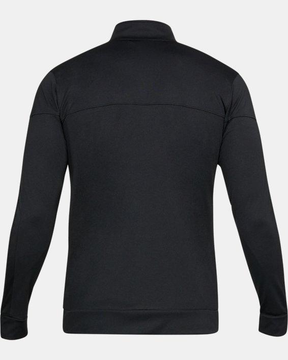 Men's UA Sportstyle Pique Jacket, Black, pdpMainDesktop image number 4