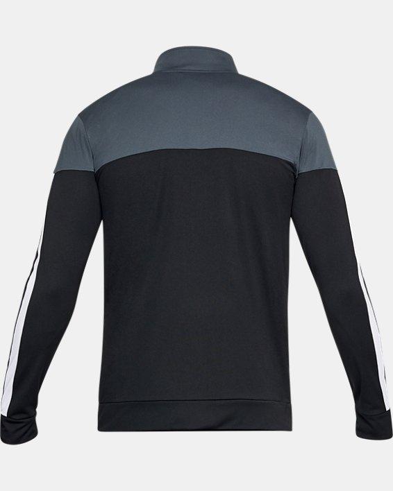 Men's UA Sportstyle Pique Jacket, Gray, pdpMainDesktop image number 3