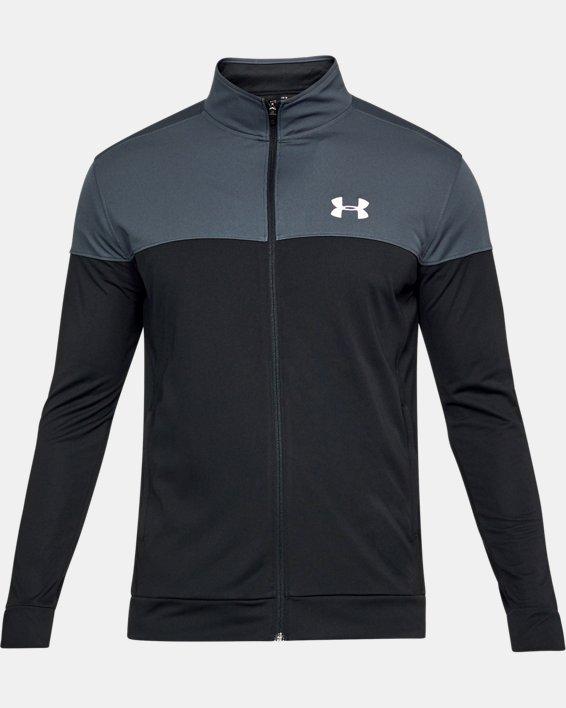 Men's UA Sportstyle Pique Jacket, Gray, pdpMainDesktop image number 2