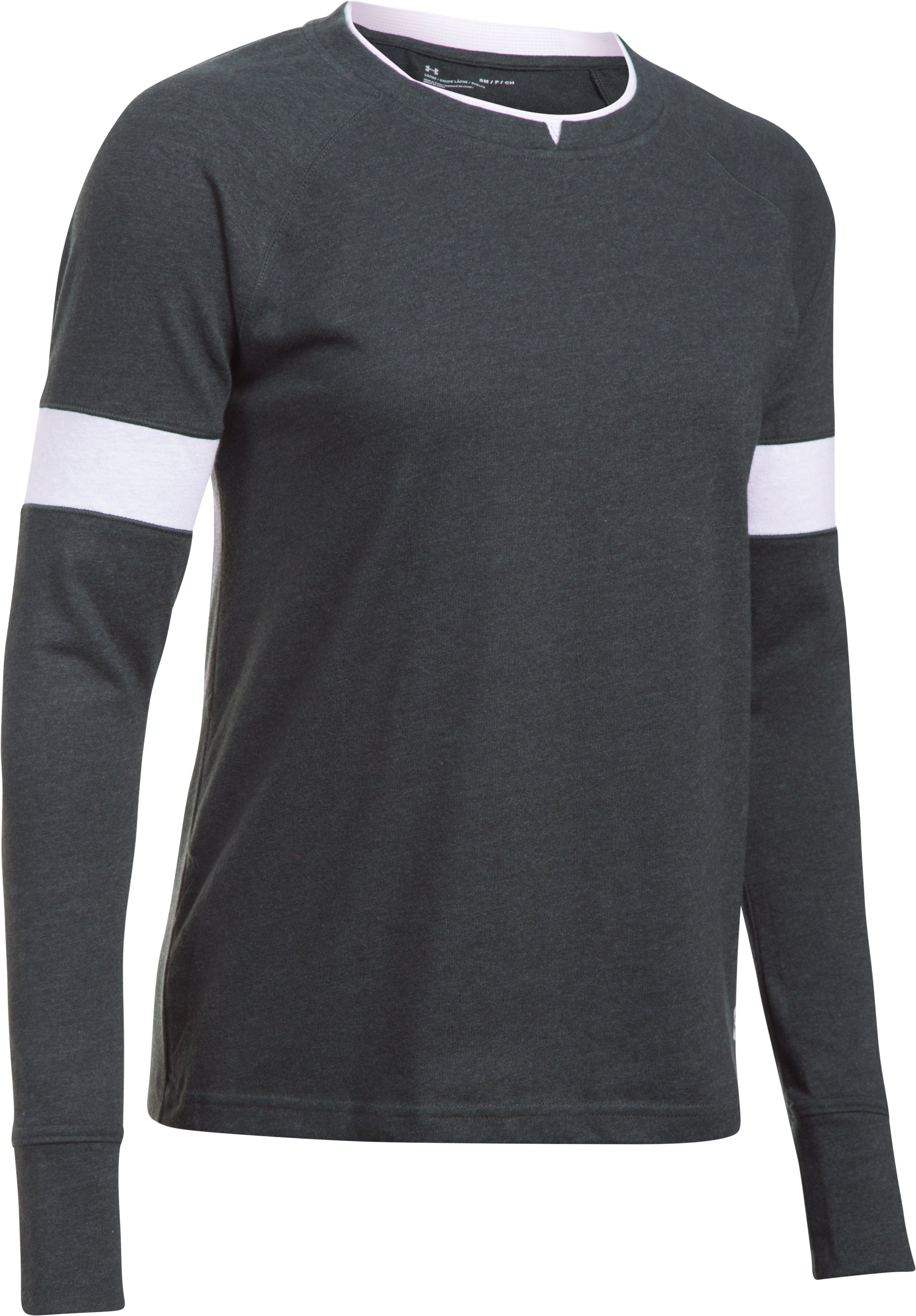 Women's UA Sportstyle Crew Long Sleeve, Black ,