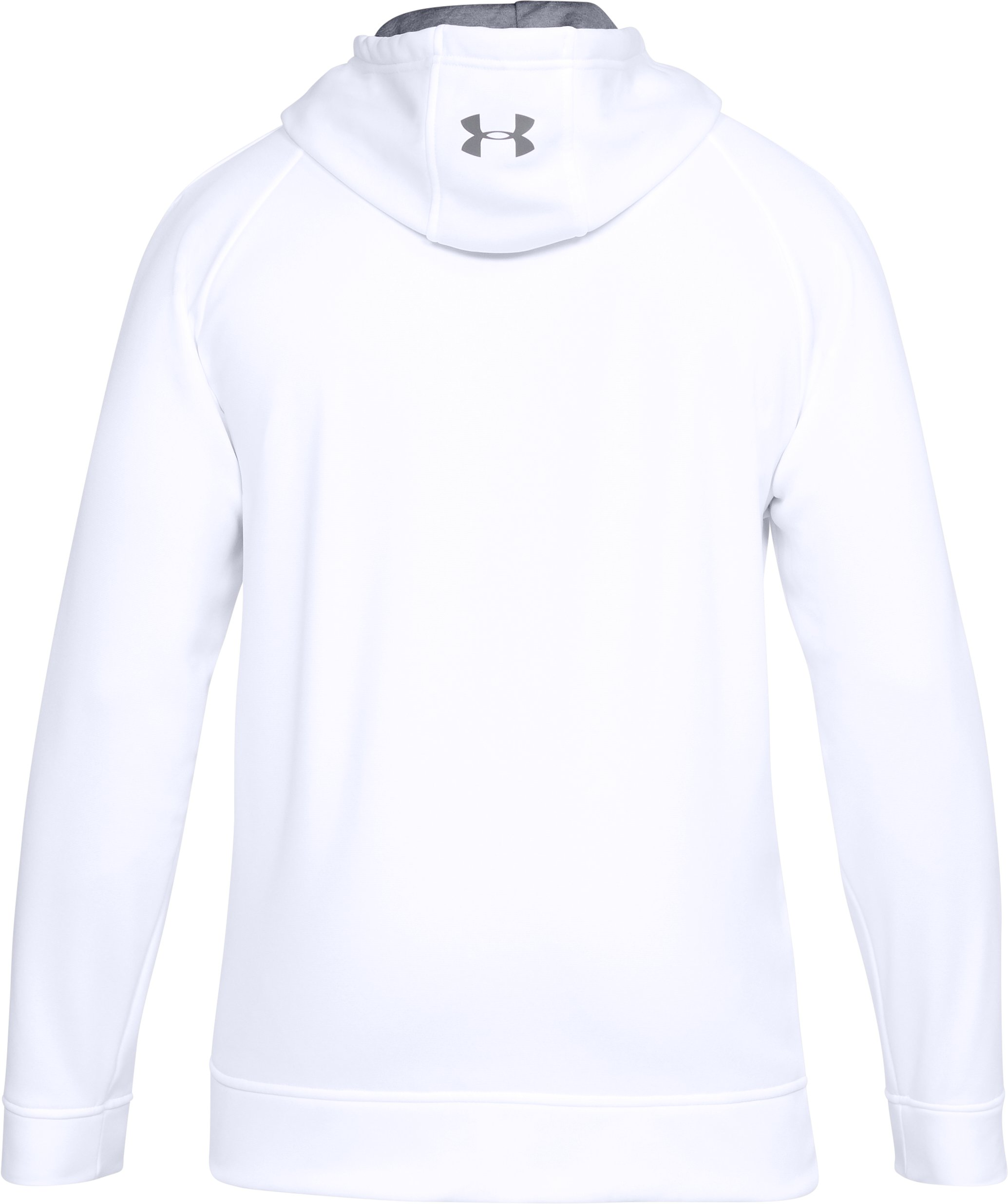 Men's UA Storm Armour® Fleece Graphic Hoodie, White, undefined