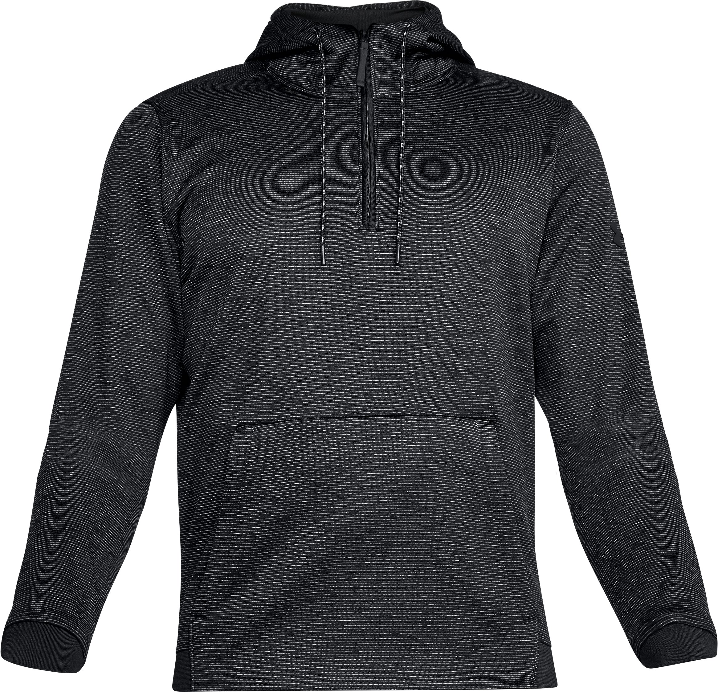 Men's UA Storm Armour® Fleece ¼ Zip Hoodie, Black , undefined