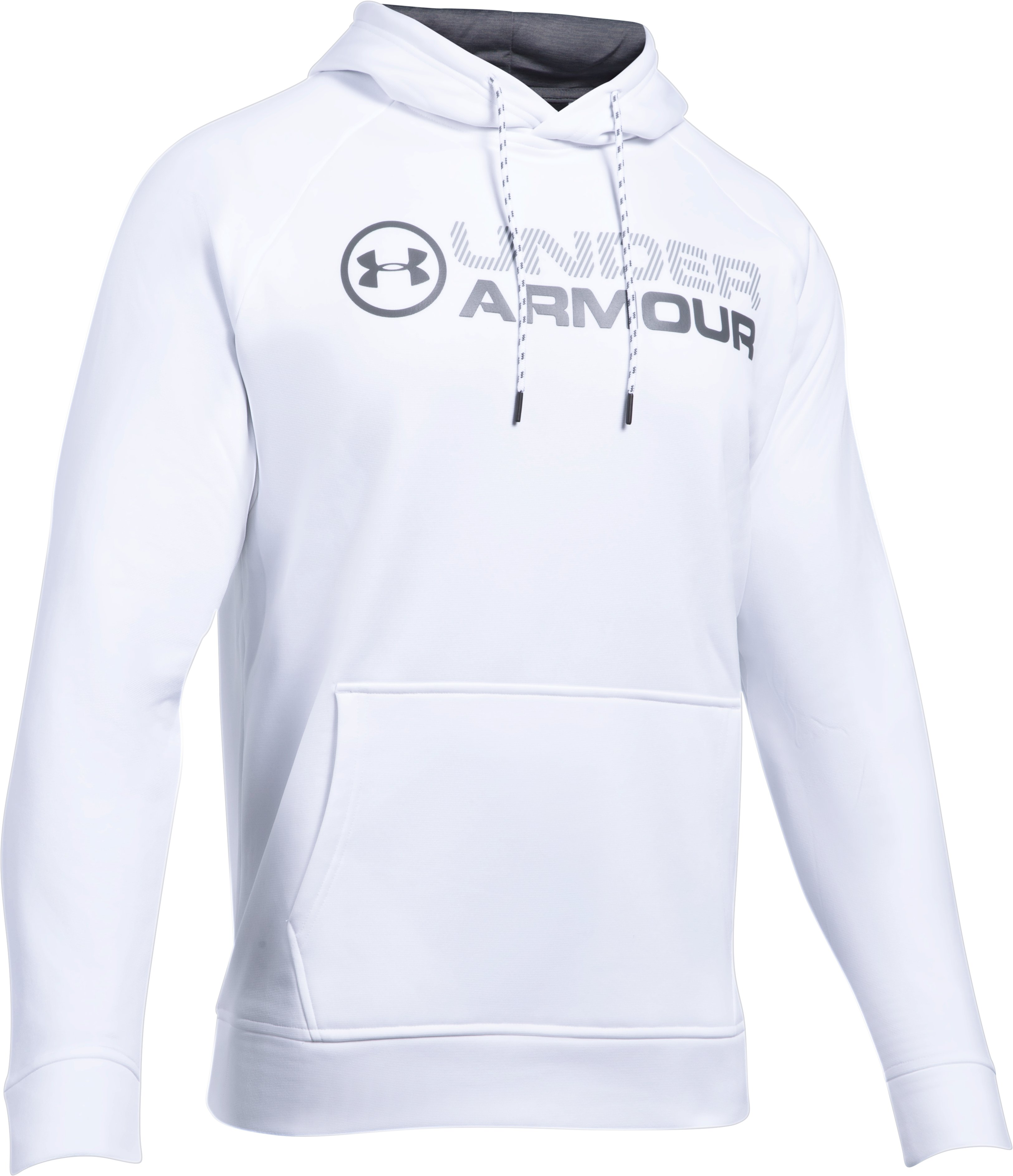 Men's UA Storm Armour Fleece® Wordmark Hoodie, White,
