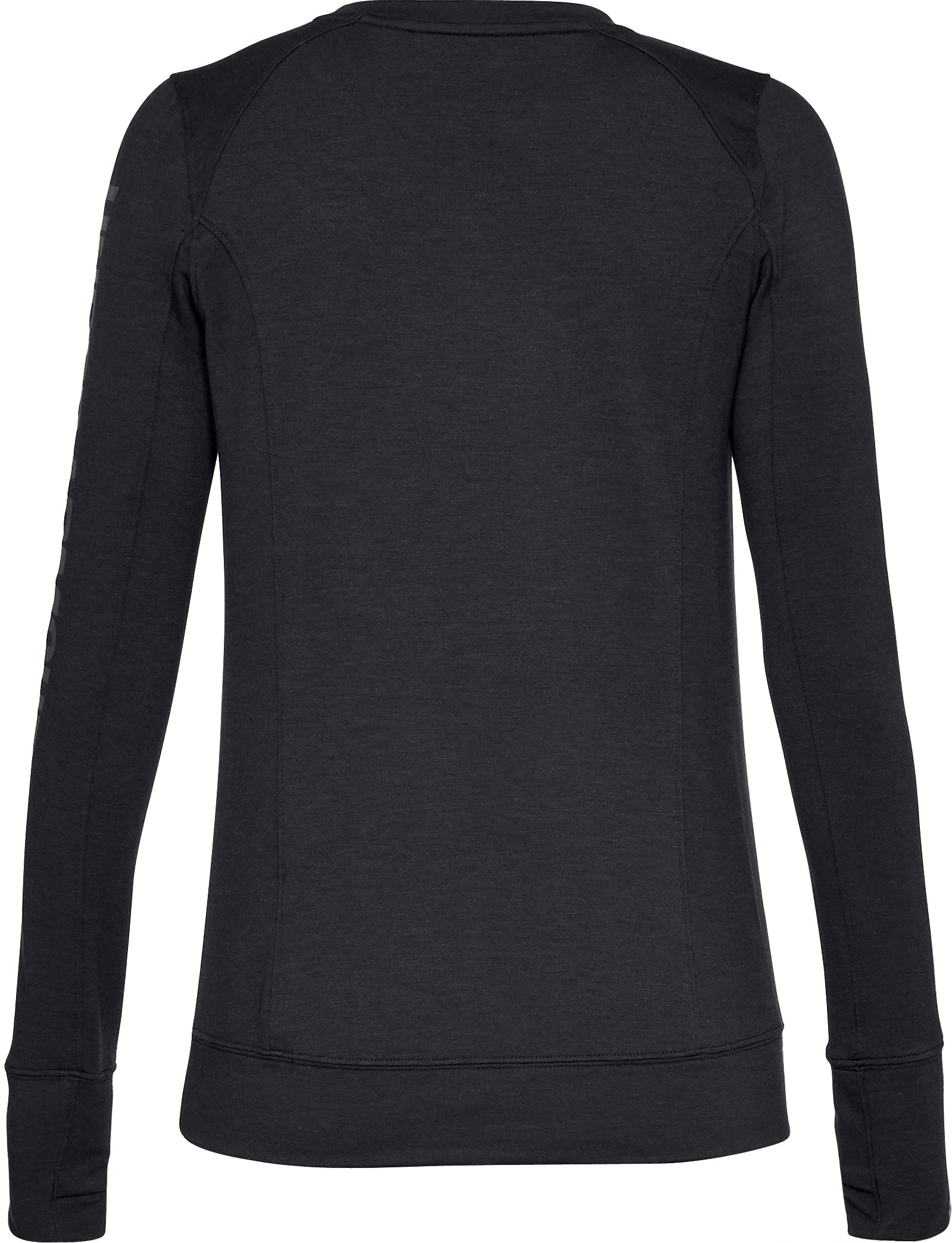 Women's UA Featherweight Fleece Crew, Black , undefined