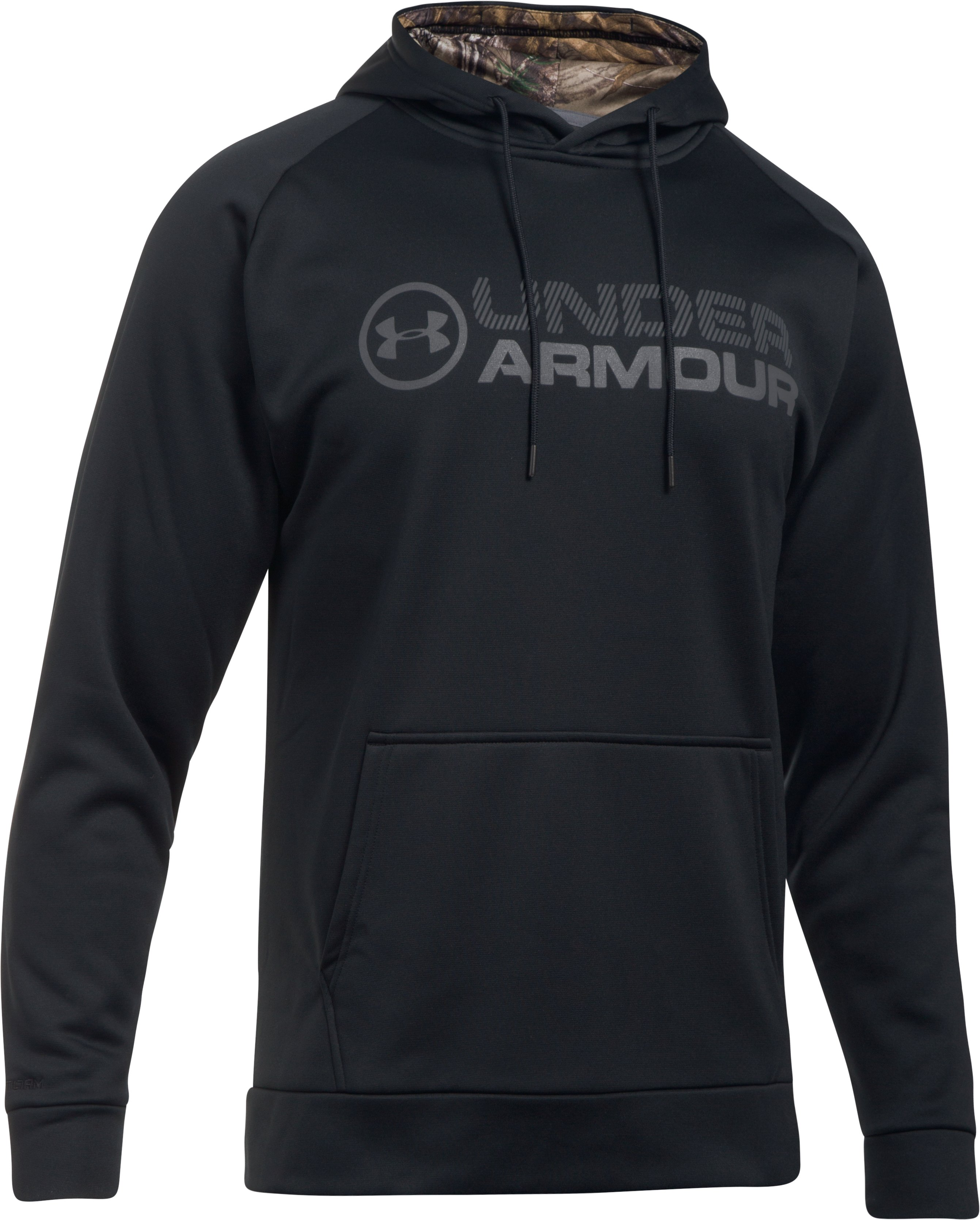 Men's UA Storm Armour Fleece® Stacked Hoodie, Black ,