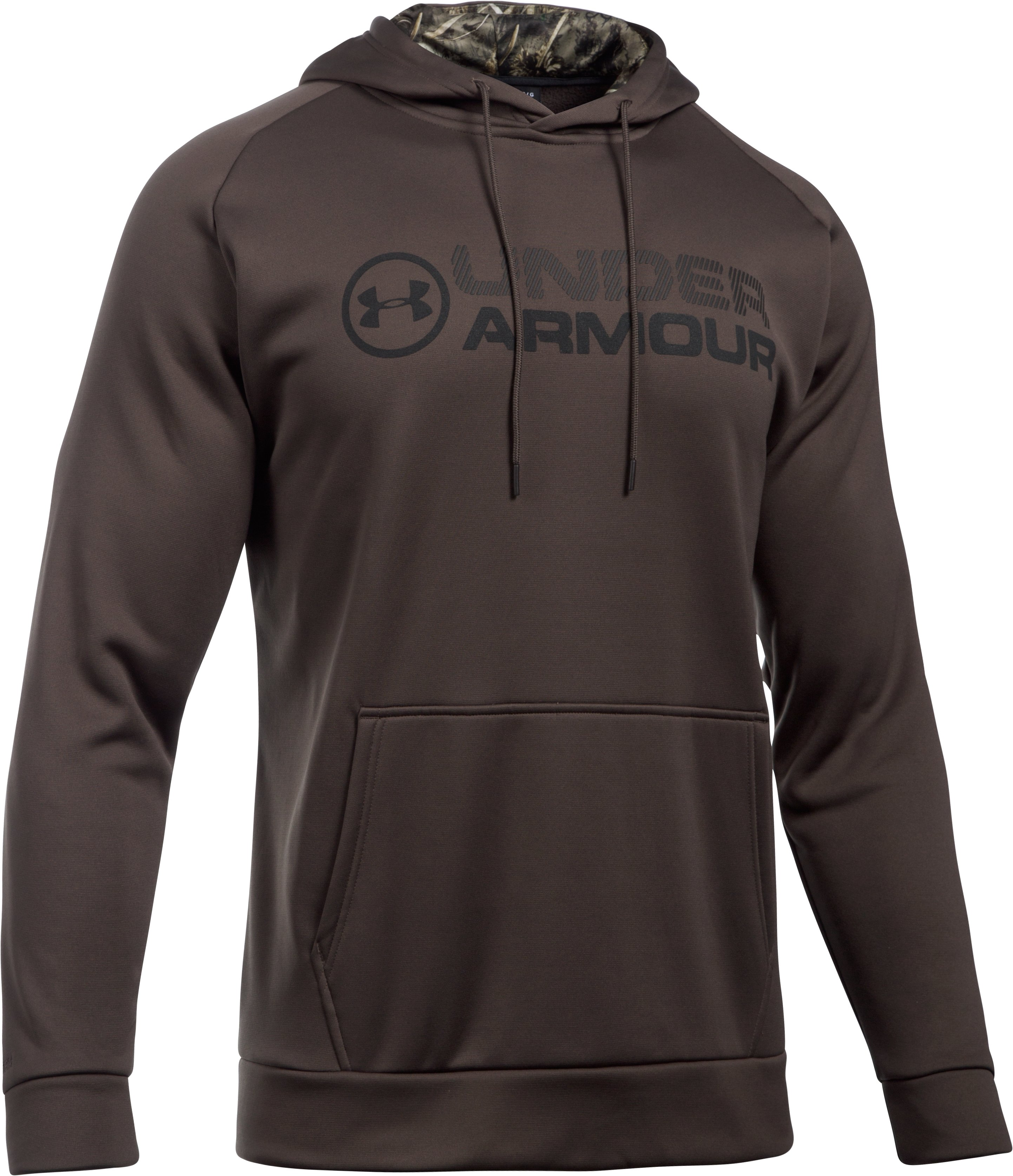 Men's UA Storm Armour Fleece® Stacked Hoodie, MAVERICK BROWN,