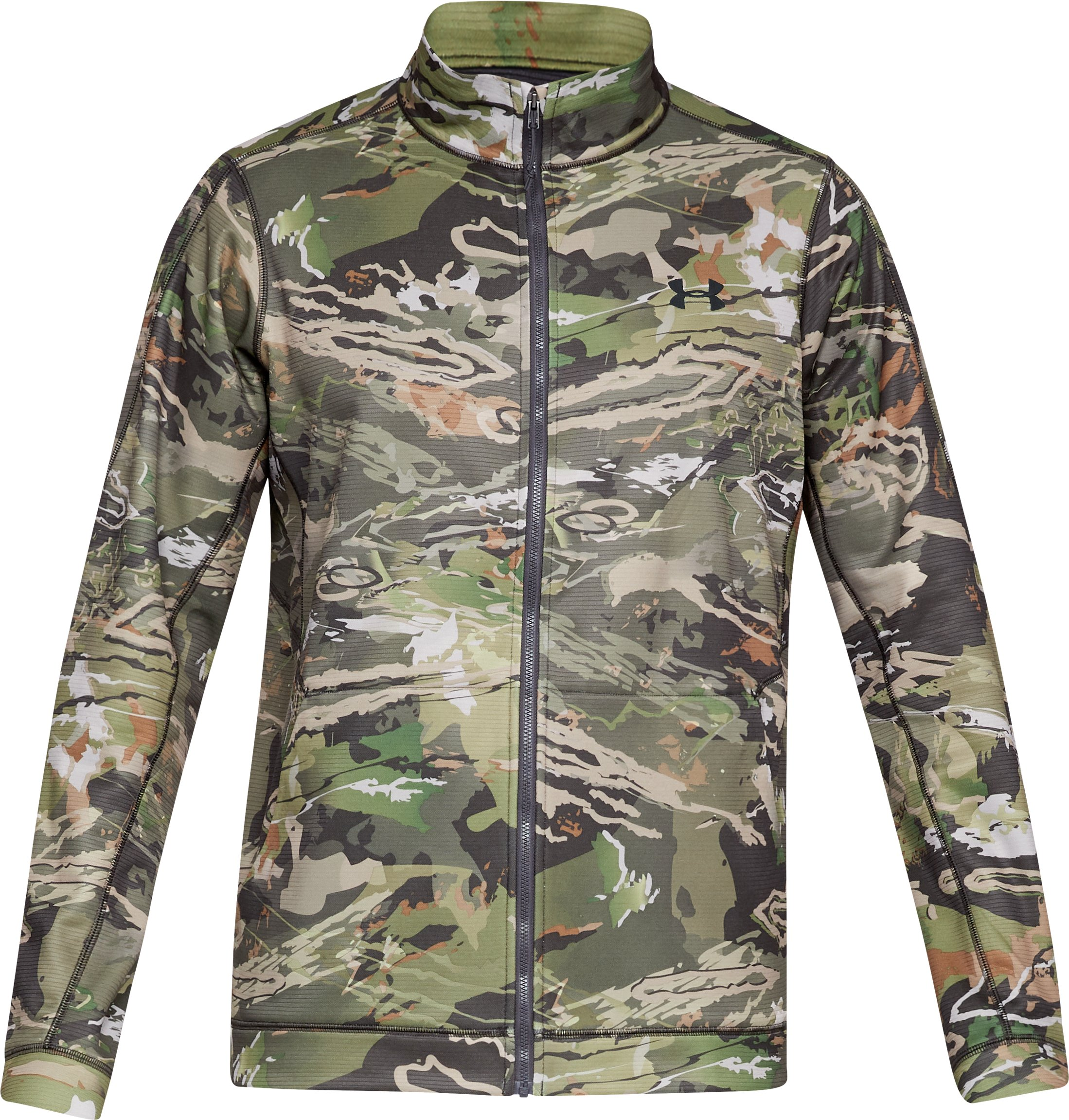 Men's UA Early Season UA Threadborne™ Fleece Camo Jacket, UA FOREST CAMO,