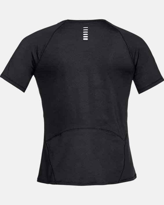 Women's UA CoolSwitch Run Short Sleeve, Black, pdpMainDesktop image number 4