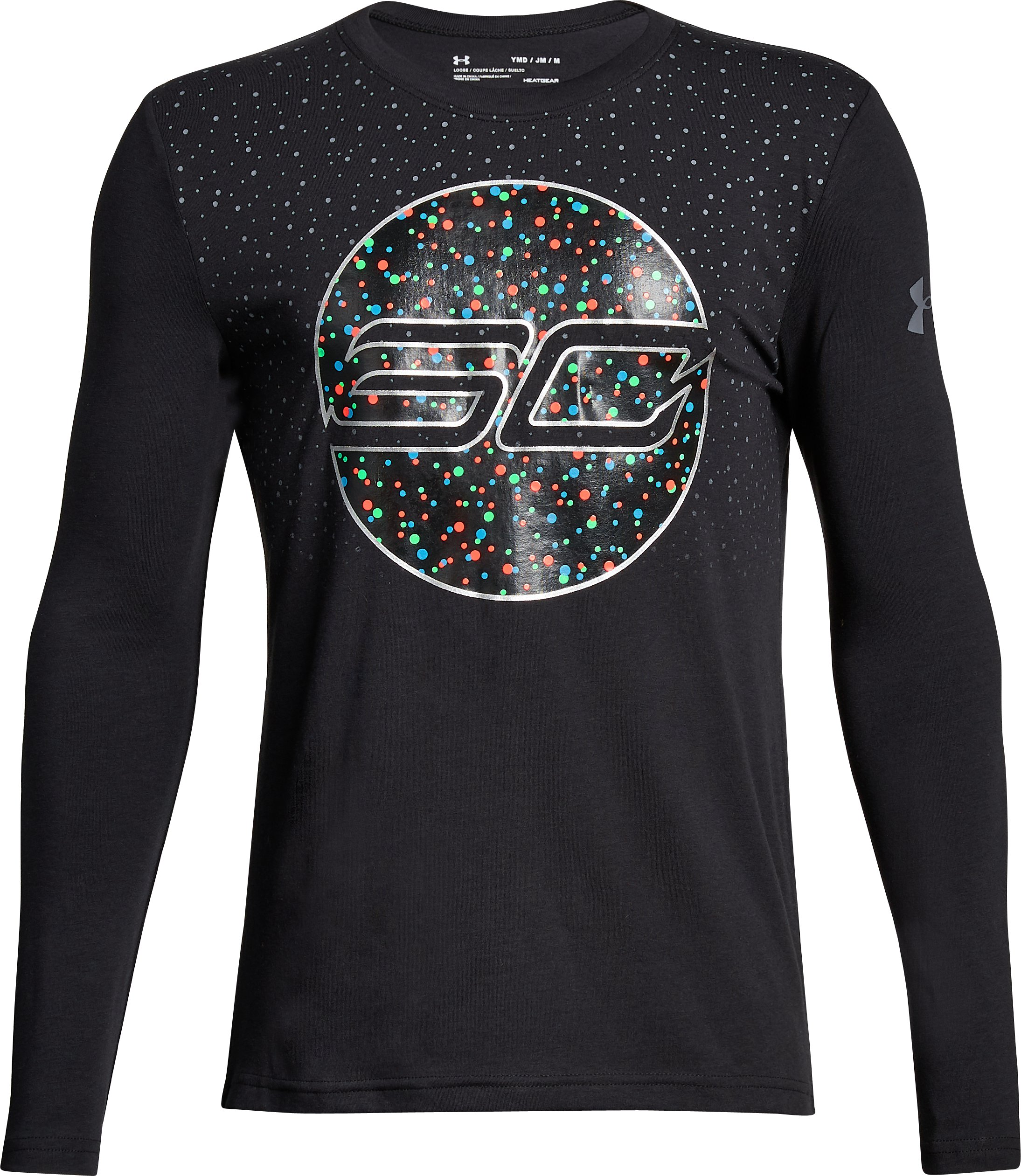 Boys' SC30 Holiday Lights Long Sleeve T-Shirt, Black ,