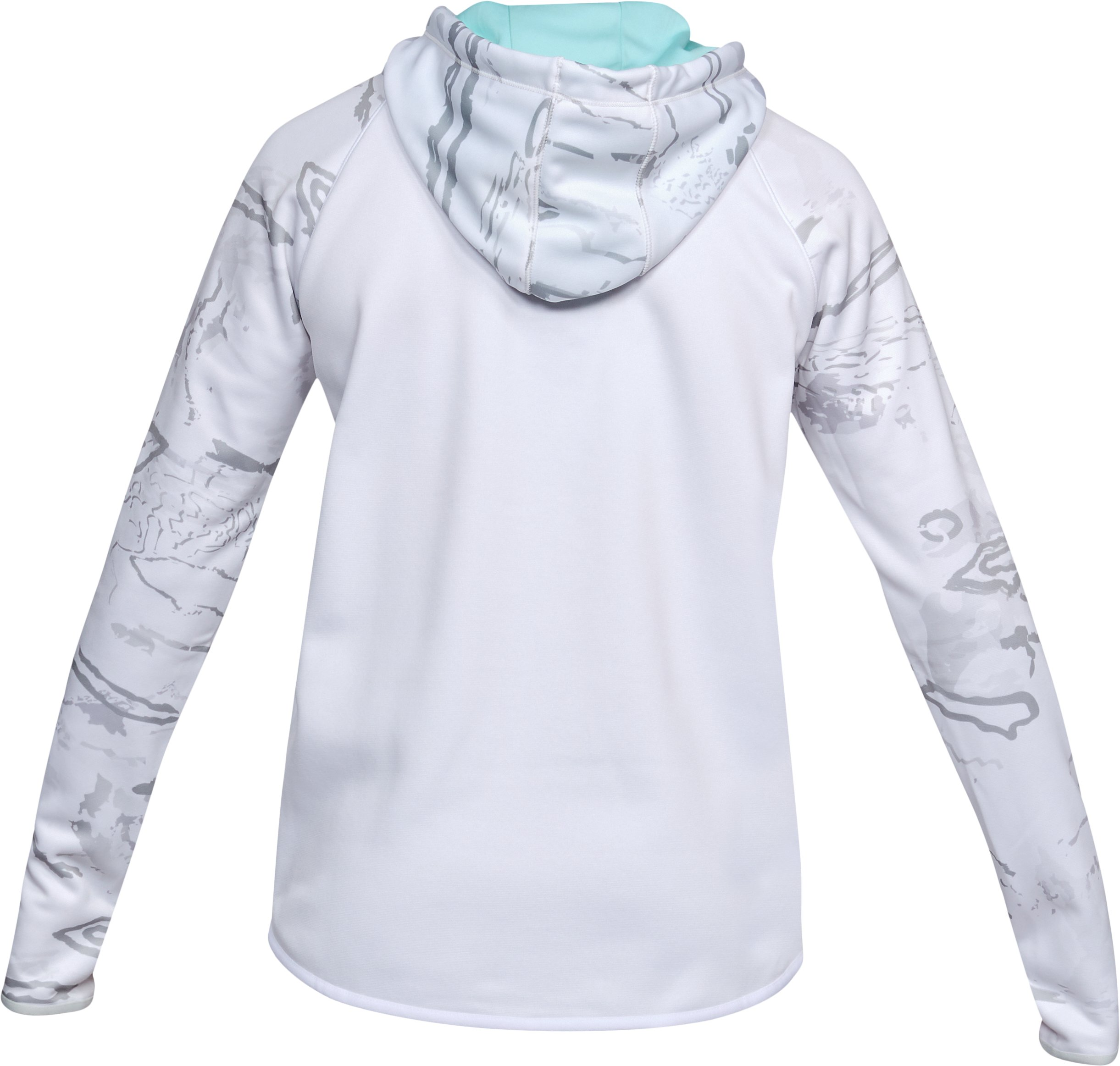 Women's Armour® Fleece Camo Blocked Hoodie, White, undefined