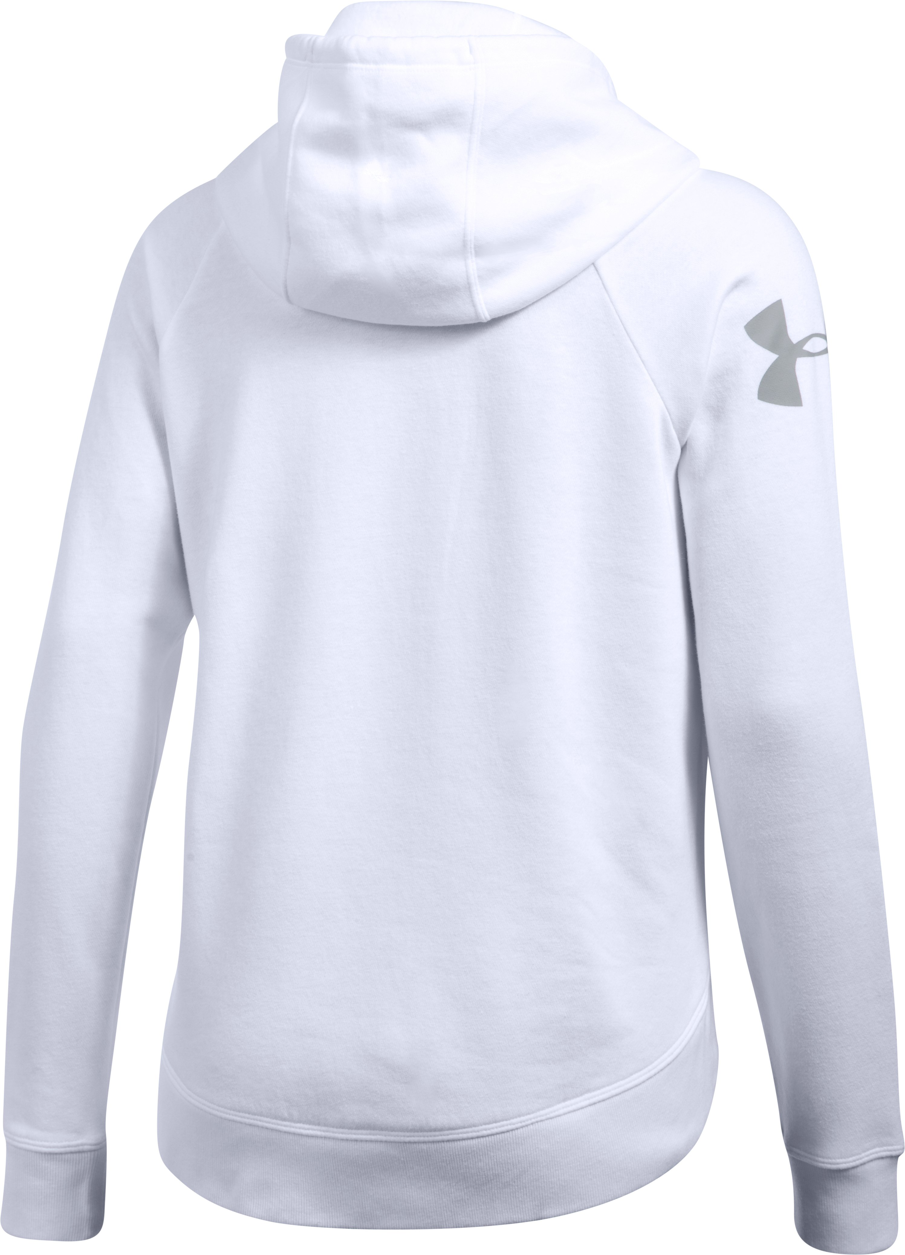 Women's UA Favorite Fleece Camo Logo Hoodie, White, undefined
