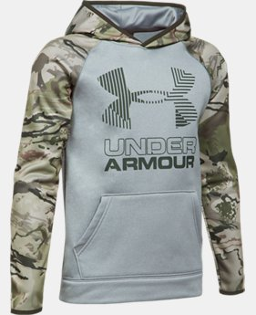 Boys' UA Storm Armour® Fleece Camo Hoodie LIMITED TIME OFFER 3 Colors $29.99