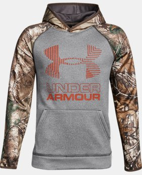 Boys' UA Storm Armour® Fleece Camo Hoodie LIMITED TIME OFFER 2 Colors $29.99