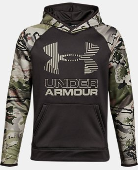 Boys' UA Storm Armour® Fleece Camo Hoodie LIMITED TIME OFFER 1 Color $29.99