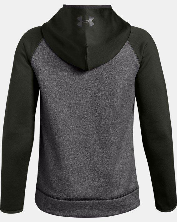 Boys' UA Storm Armour Fleece® Stacked Hoodie, Gray, pdpMainDesktop image number 1