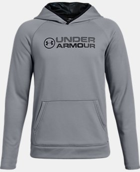 Boys' UA Storm Armour Fleece® Stacked Hoodie LIMITED TIME ONLY 4  Colors Available $33.74