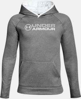 New to Outlet Boys' UA Storm Armour® Fleece Stacked Hoodie LIMITED TIME OFFER 1 Color $29.99