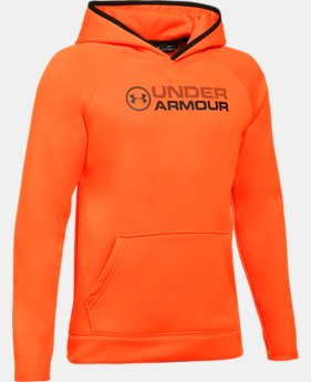 Boys' UA Storm Armour® Fleece Stacked Hoodie LIMITED TIME OFFER 1 Color $29.99