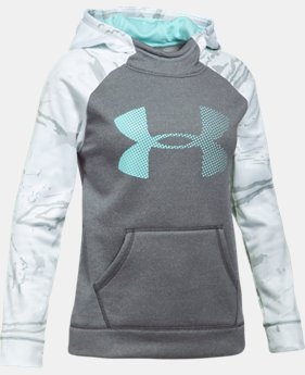 Girls' UA Armour® Fleece Camo Blocked Hoodie LIMITED TIME OFFER 1 Color $29.99