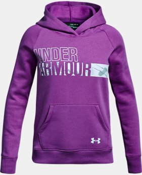 Girls' UA Favorite Fleece Camo Logo Hoodie LIMITED TIME OFFER 1 Color $29.99