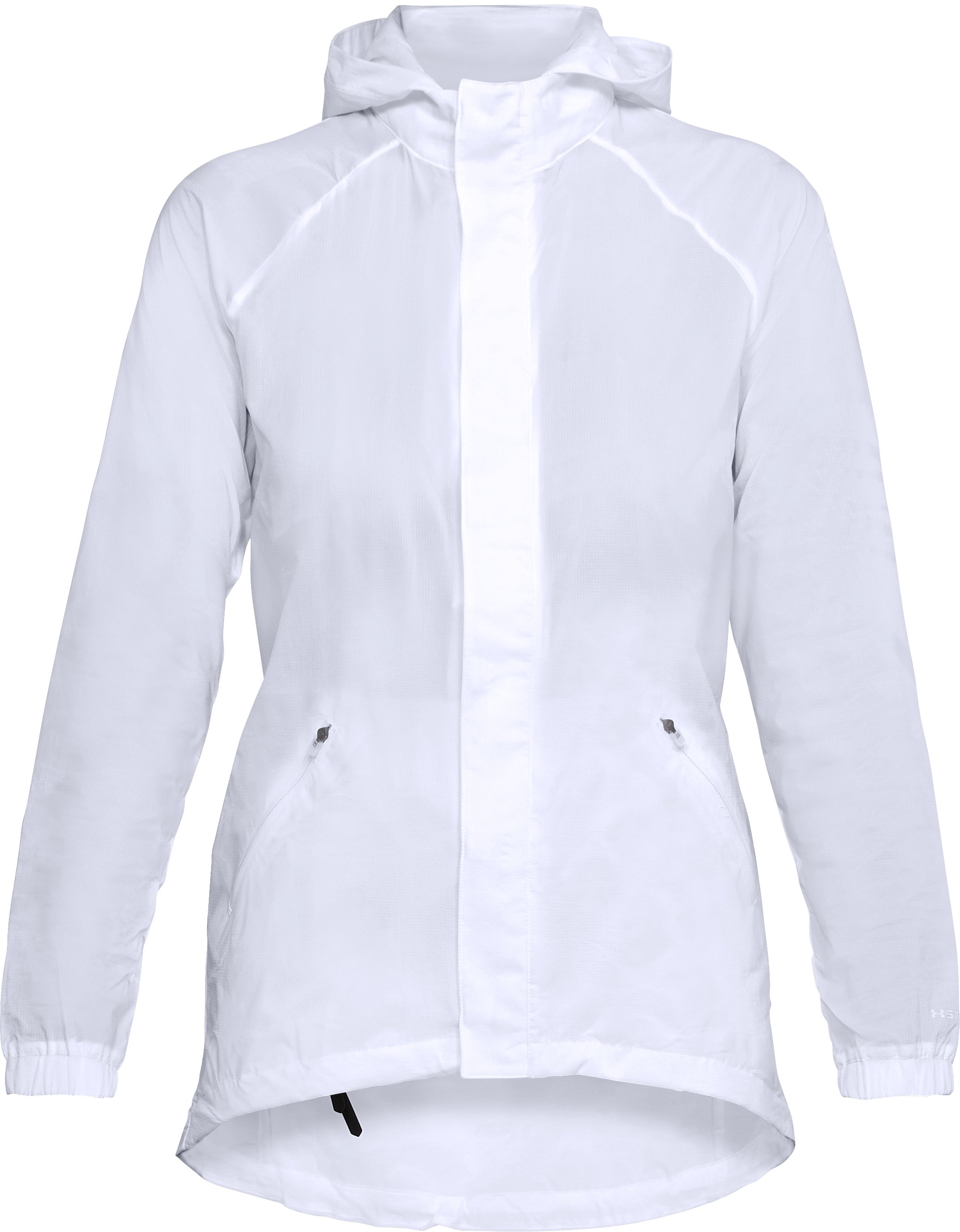 Women's UA Run City Pack Jacket, White,
