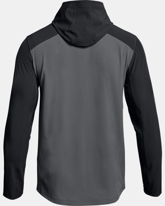 Men's UA Challenger II Storm Shell Jacket, Gray, pdpMainDesktop image number 4