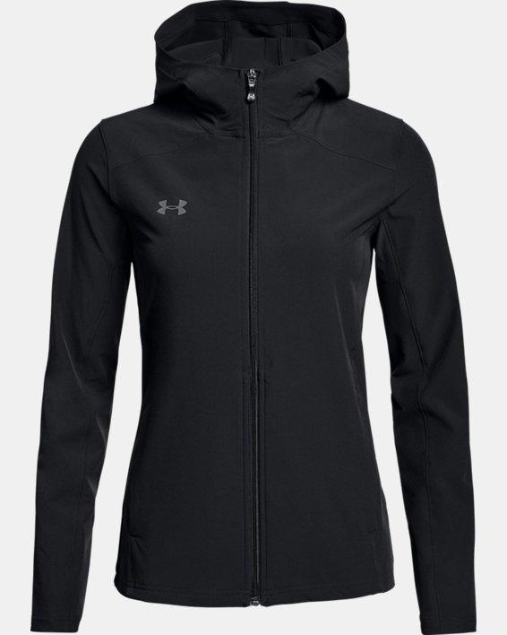 Women's UA Challenger II Storm Shell Jacket, Black, pdpMainDesktop image number 3