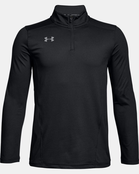 Youth UA Challenger II Midlayer Shirt, Black, pdpMainDesktop image number 0
