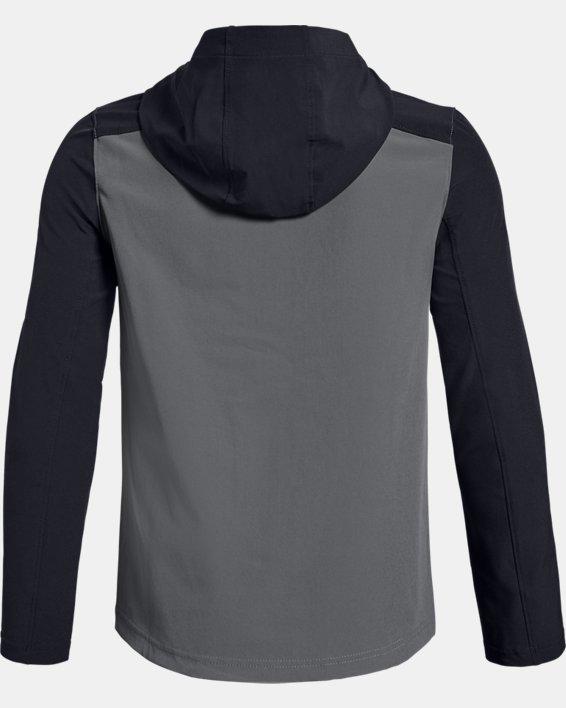Youth UA Challenger II Storm Shell Jacket, Gray, pdpMainDesktop image number 1