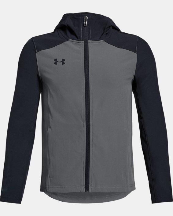 Youth UA Challenger II Storm Shell Jacket, Gray, pdpMainDesktop image number 0