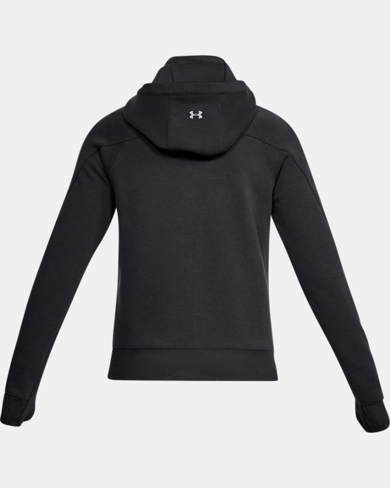 Women's UA Spacer Full Zip Jacket, Black, pdpMainDesktop image number 5