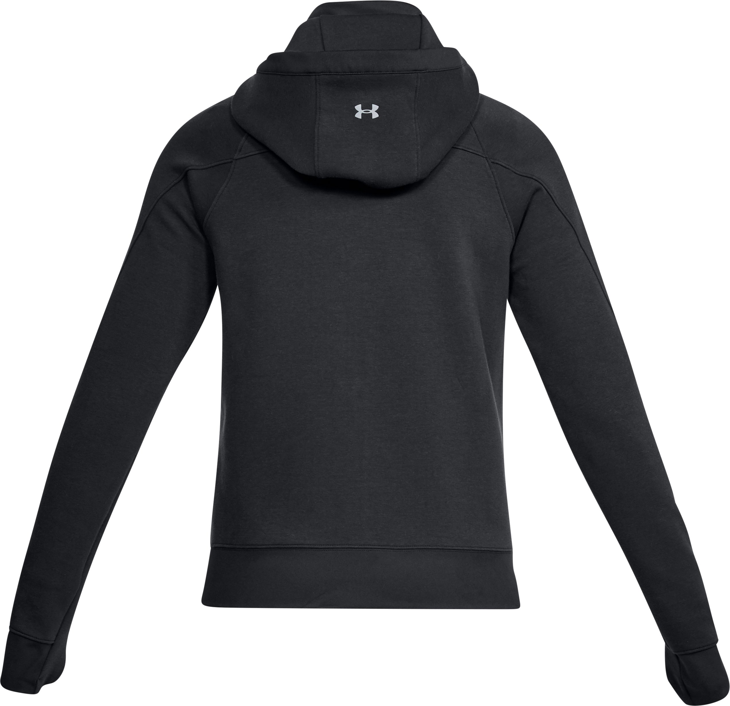 Women's UA Spacer Full Zip Jacket, Black ,