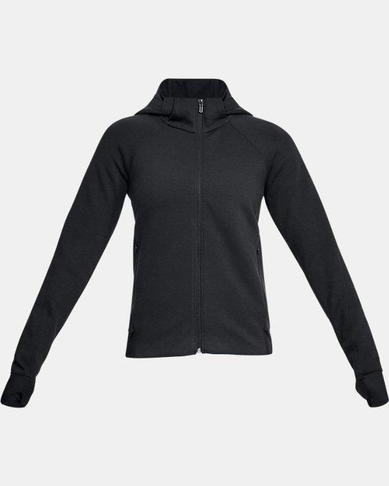 Women's UA Spacer Full Zip Jacket, Black, pdpMainDesktop image number 4