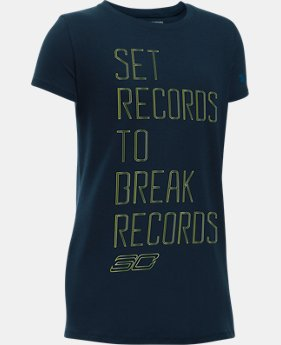 Girls' SC30 Set Records T-Shirt  1 Color $14.99