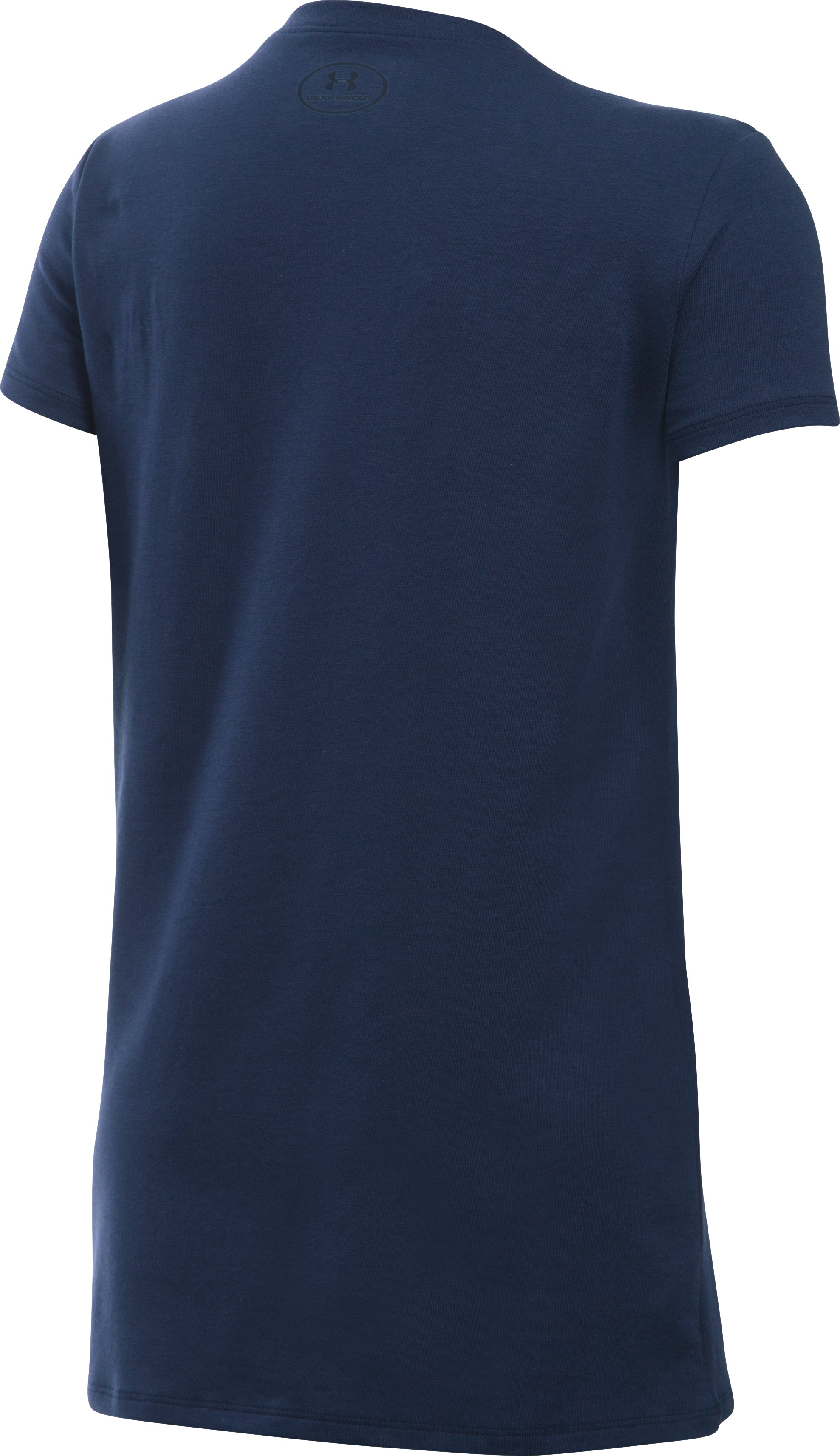Girls' UA Play With Heart T-Shirt, Midnight Navy,