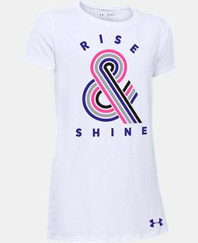 Girls' UA Rise & Shine T-Shirt  1 Color $11.24
