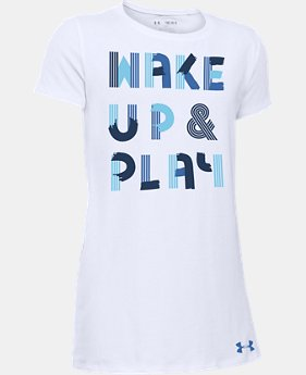Girls' UA Wake Up & Play T-Shirt  1 Color $14.99