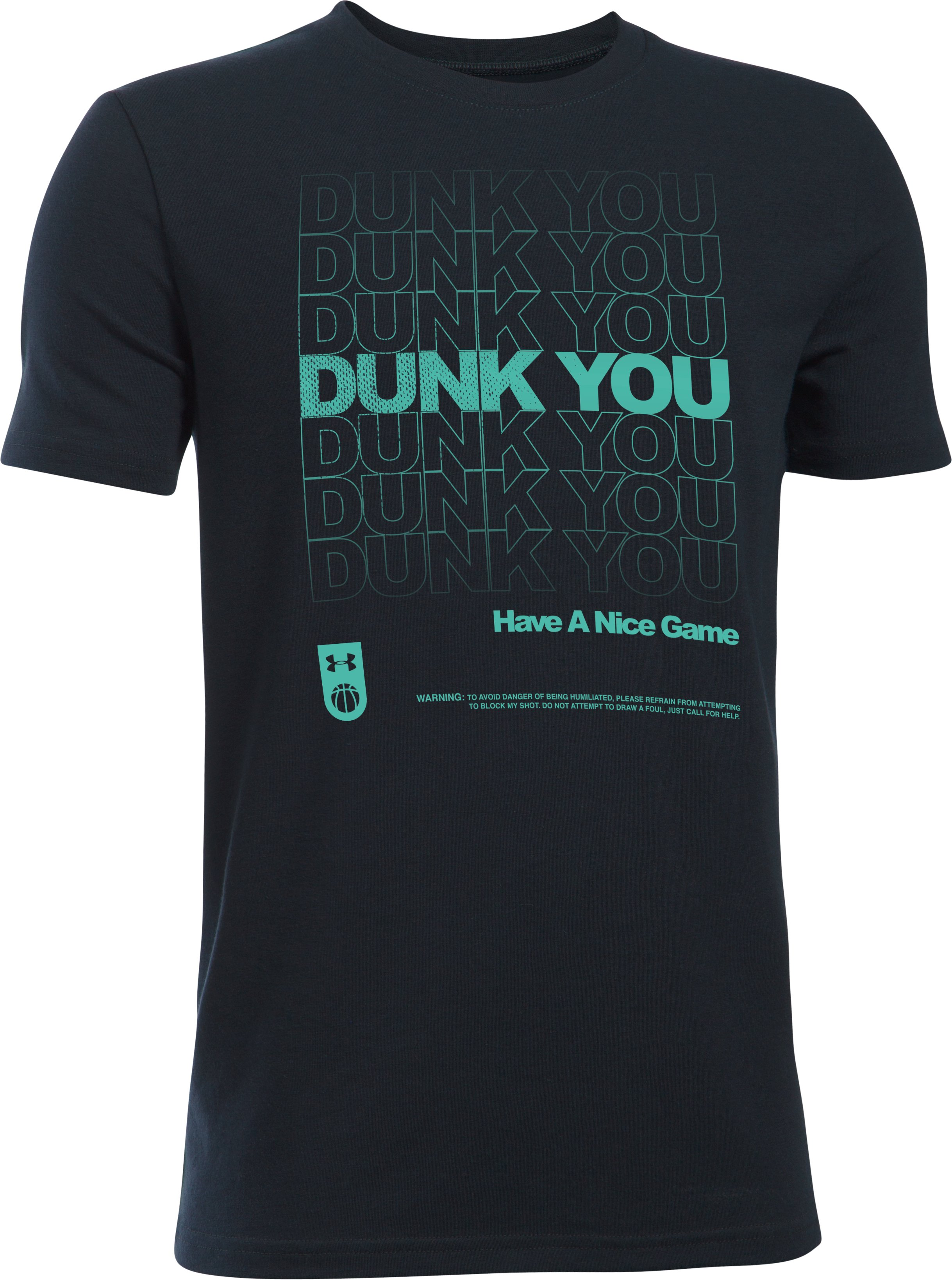 Boys' UA Dunk You T-Shirt, Black , undefined
