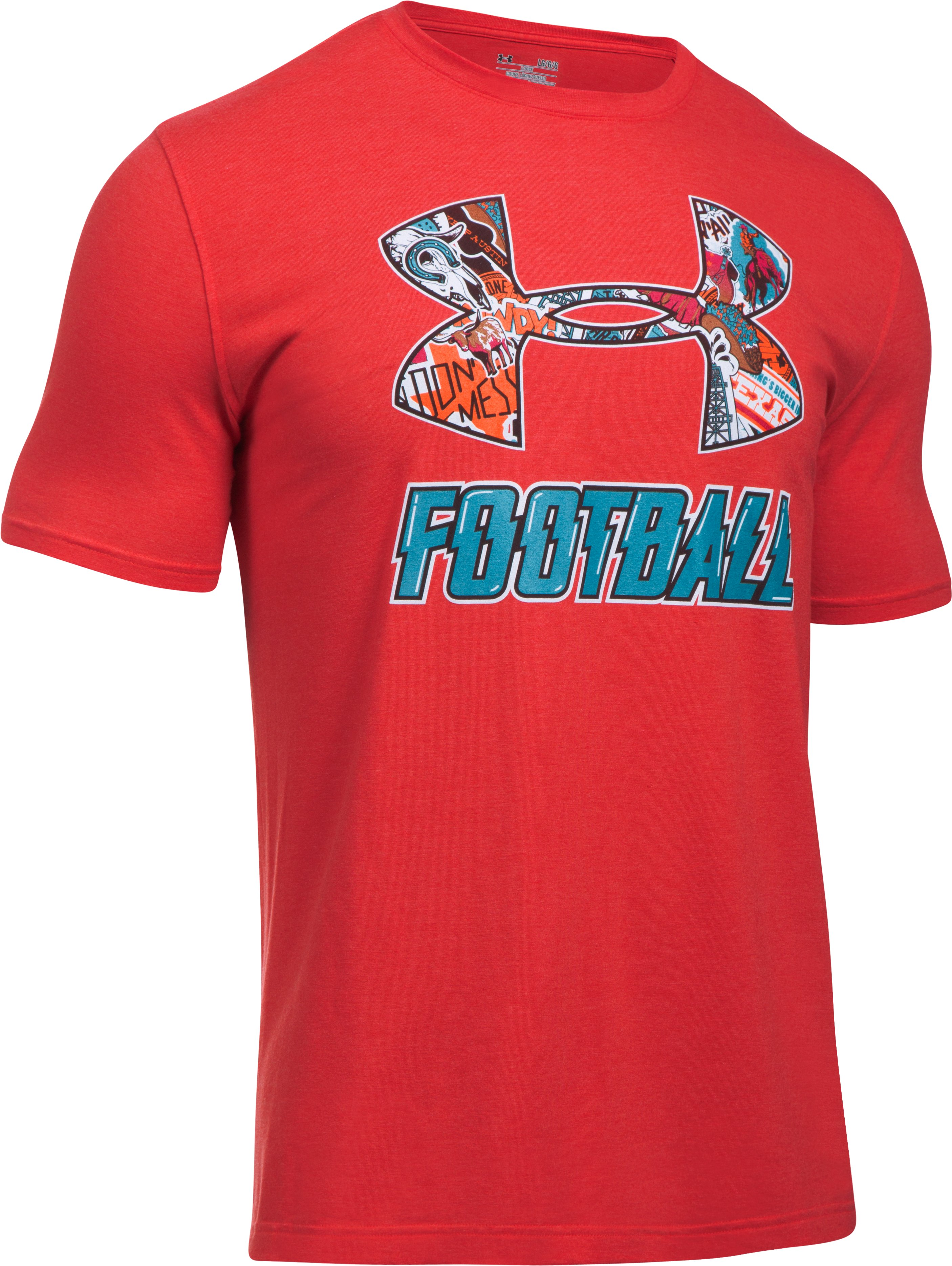 Men's UA Texas Football T-Shirt, Red,