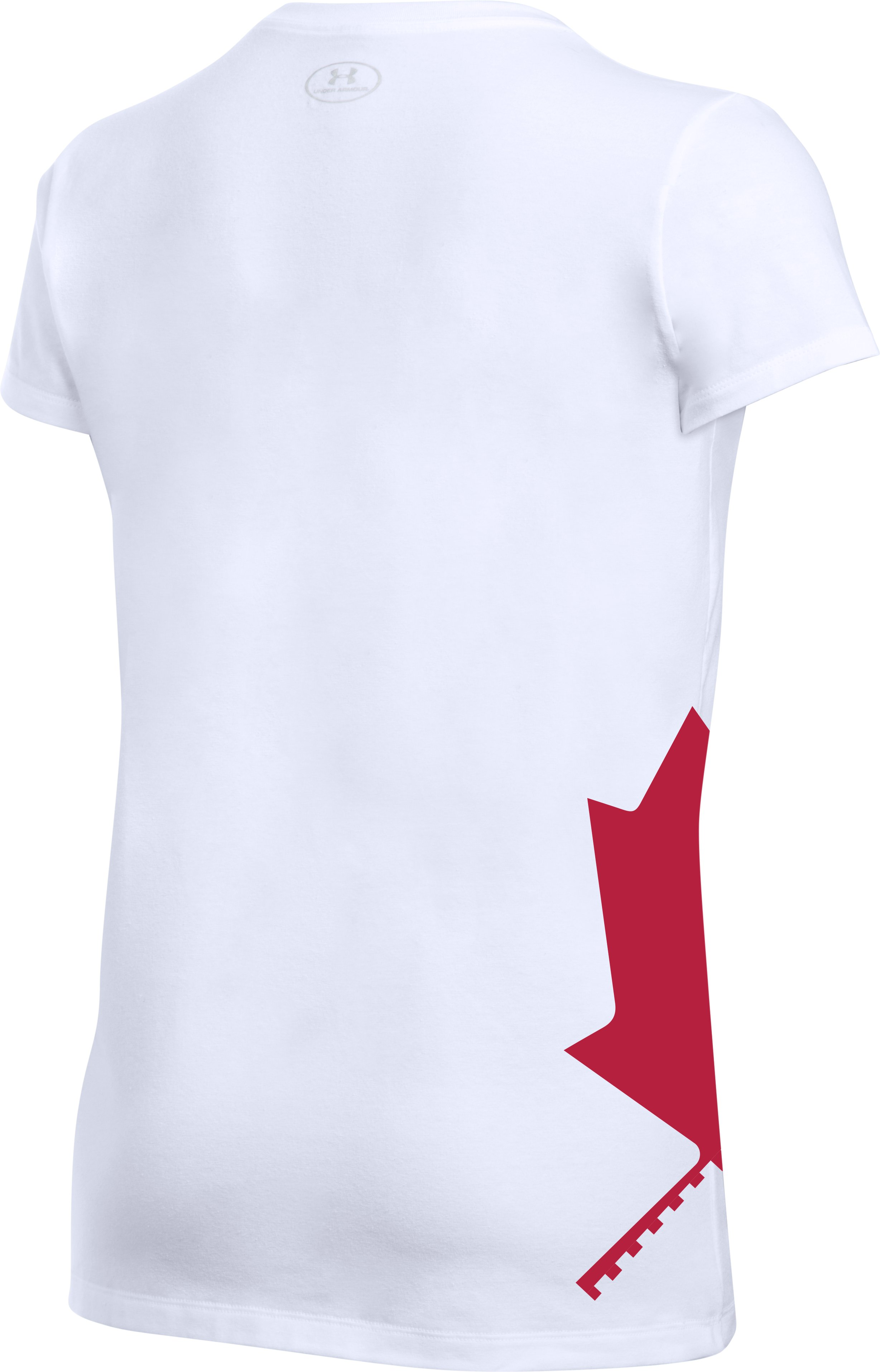Women's UA Canada Maple Short Sleeve, White,