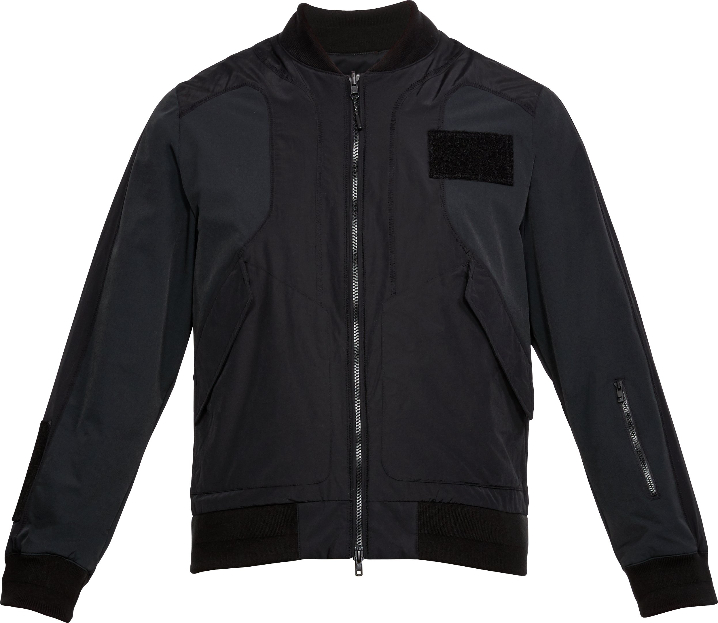 Men's UAS Nylon Bomber Jacket, Black ,