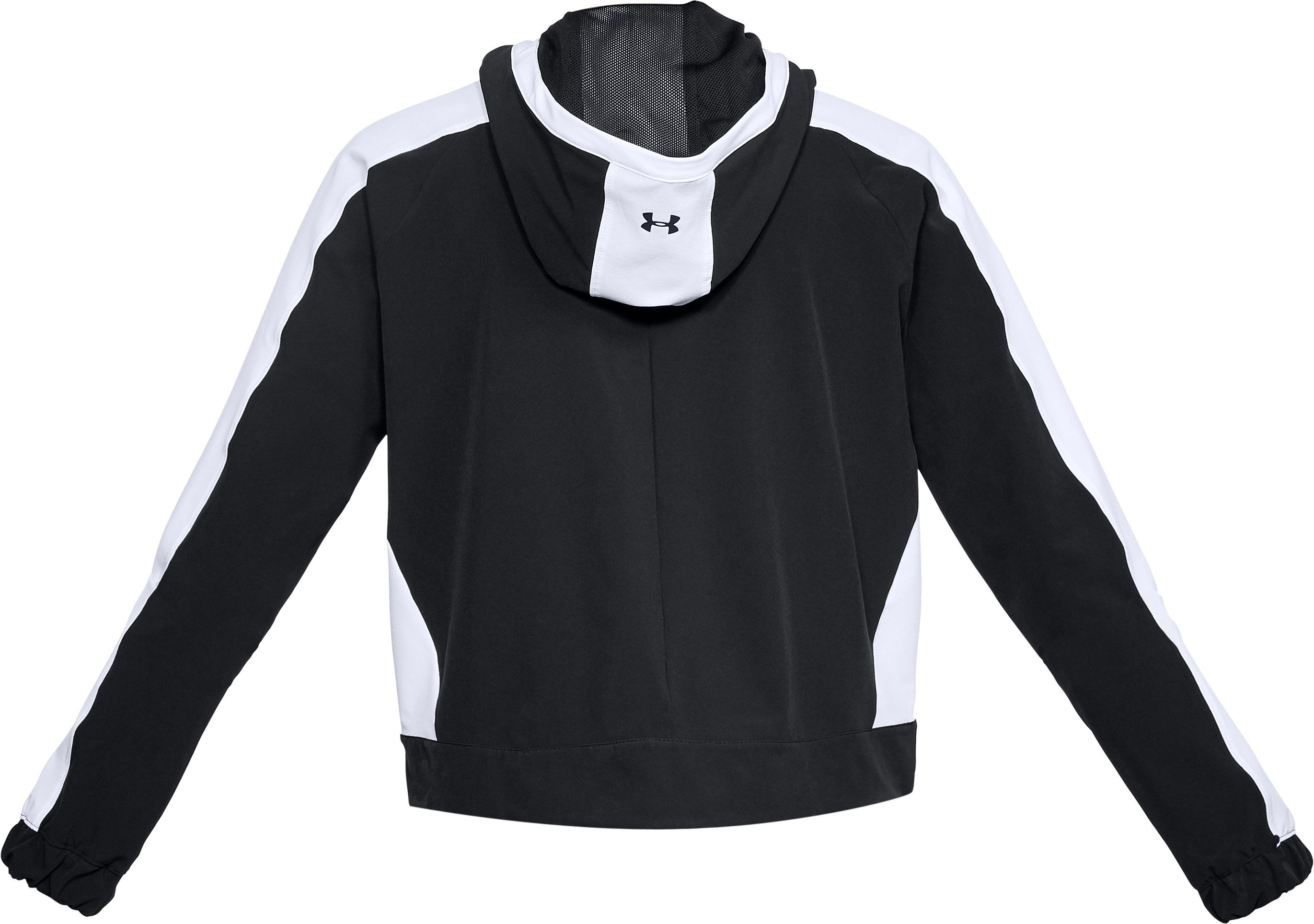 Women's UA Storm Woven Full Zip Jacket, Black ,